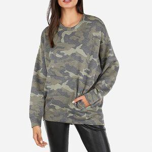 Express oversized camo sweatshirt